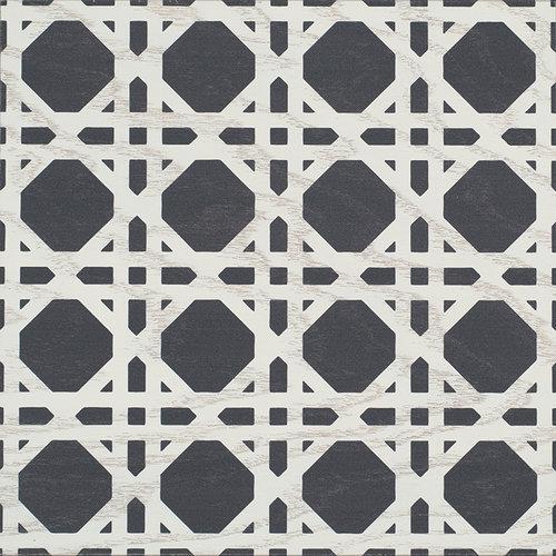 Navy Cane wood tile #Mirthstudio