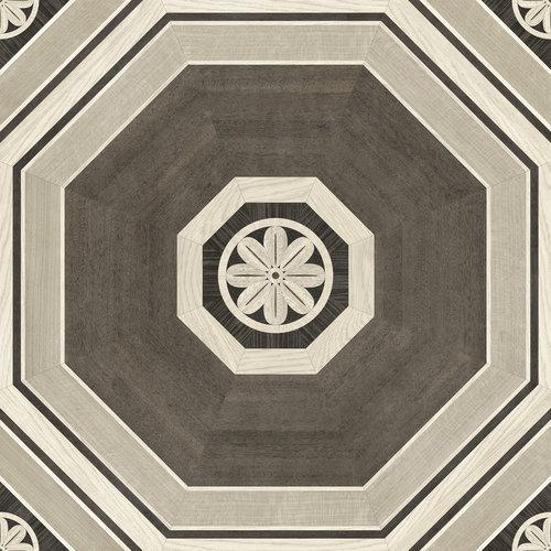 Gray Stately Octagon