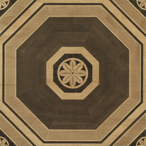 Natural Stately Octagon wood tile #mirthstudio