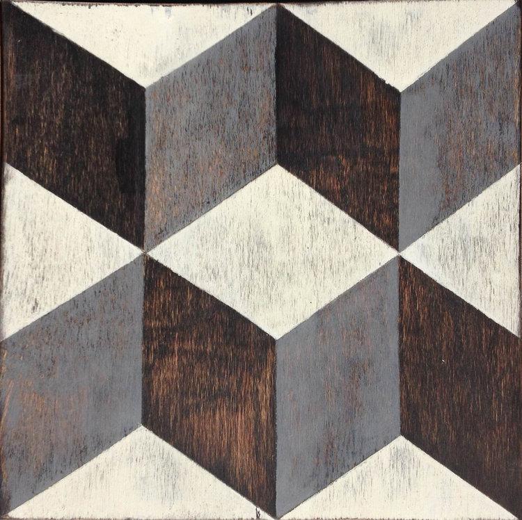 Tumbling Blocks Hardwood Tile #Mirthstudio