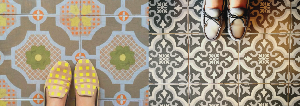 Mirth Studio wood tile vs Encaustic tile #MirthStudio #cementtile #hardwoodflooring