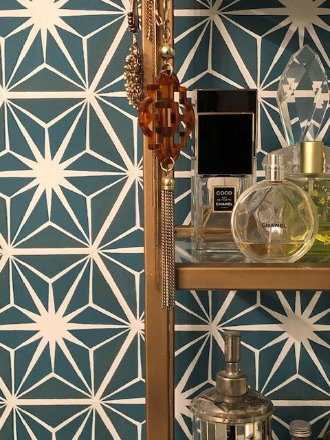 Mirth Studio temporary Peel & Stick Starburst Wallpaper install