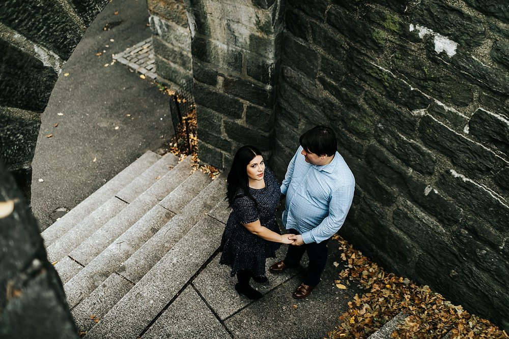 Winter engagement shoot at Fort Tryon Park by Danfredo Photos + Films