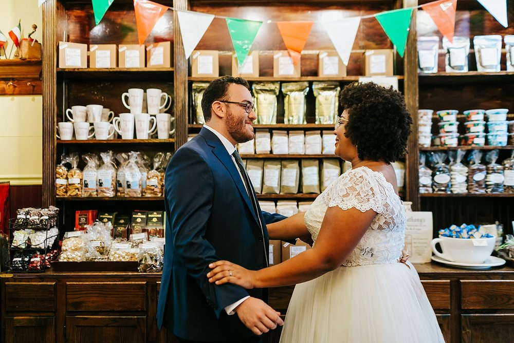 Summer wedding first look photos at Philadelphia by Danfredo Photos + Films