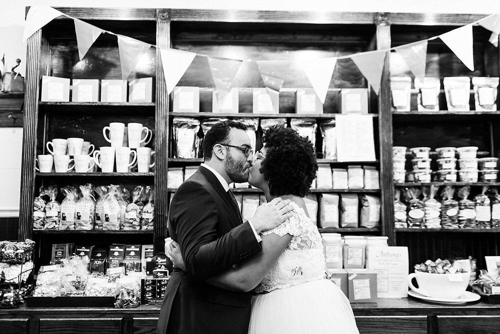 Summer interracial wedding first look photos at Philadelphia by Danfredo Photos + Films