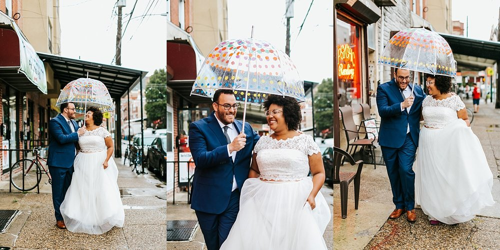 Summer interracial wedding first look photos at Philadelphia