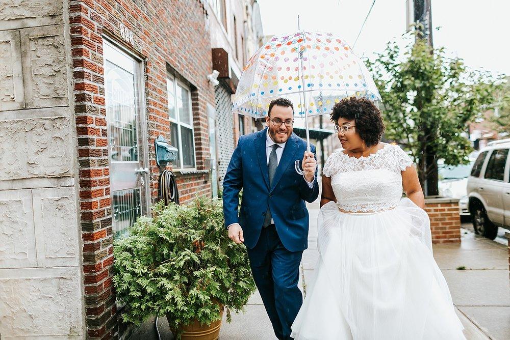 Interracial summer wedding first look photos at Philadelphia by Danfredo Photos + Films