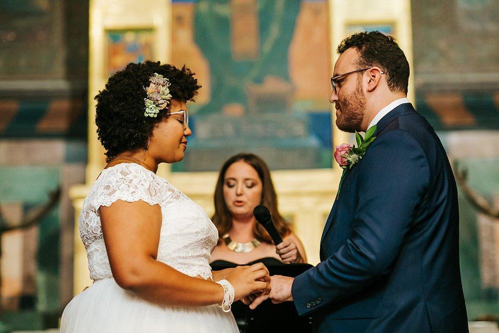 Summer wedding ceremony at Fleisher Art Memorial by Danfredo Photos + Films