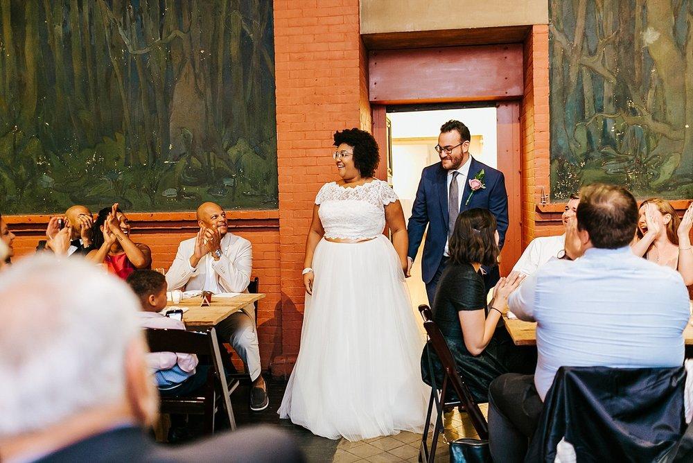 Interracial wedding couple introduction at Fleisher Art Memorial by Danfredo Photos + Films