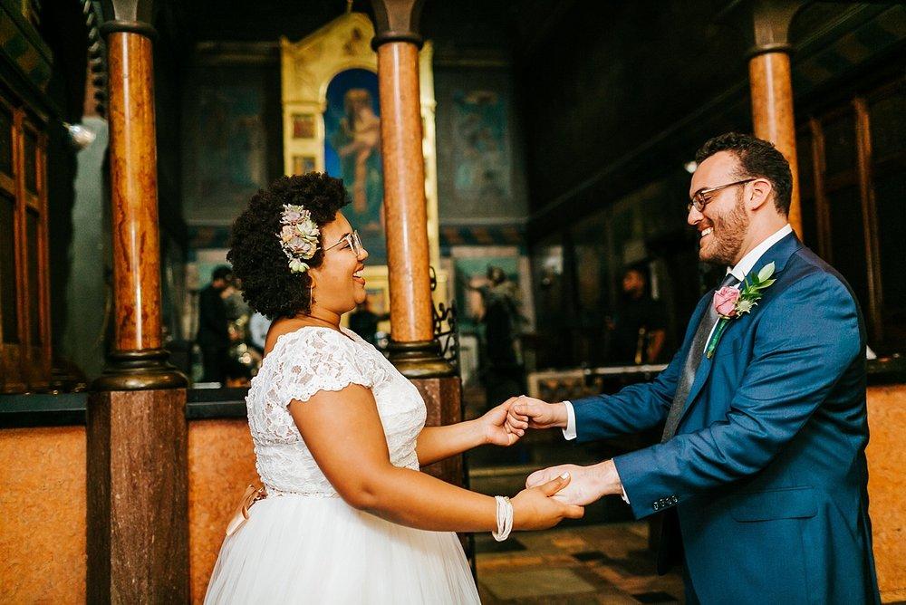 Summer wedding first dance at Fleisher Art Memorial