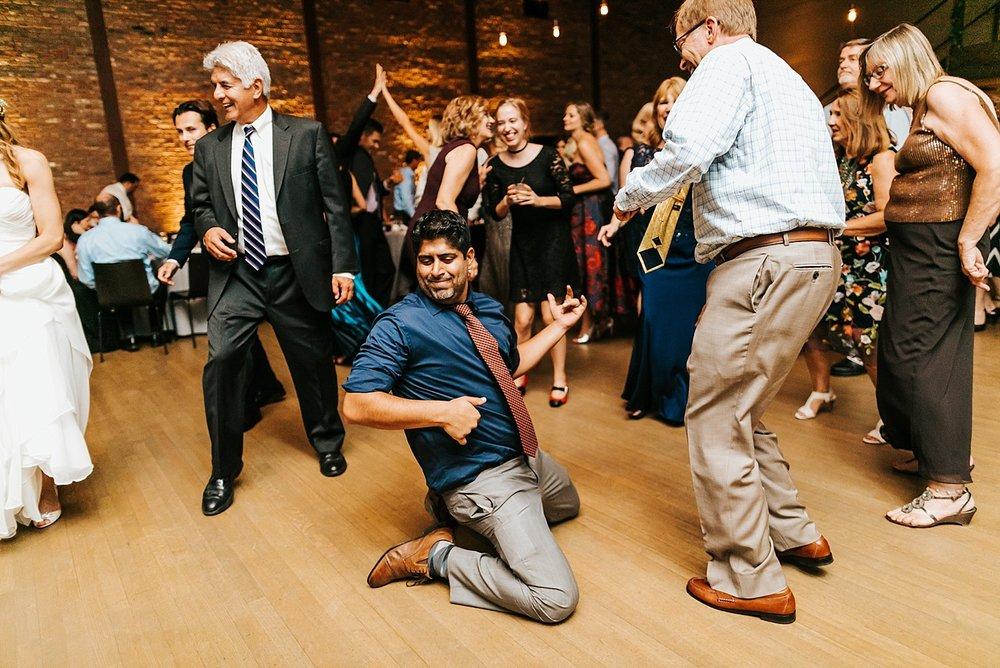 Summer wedding reception at hudson new york