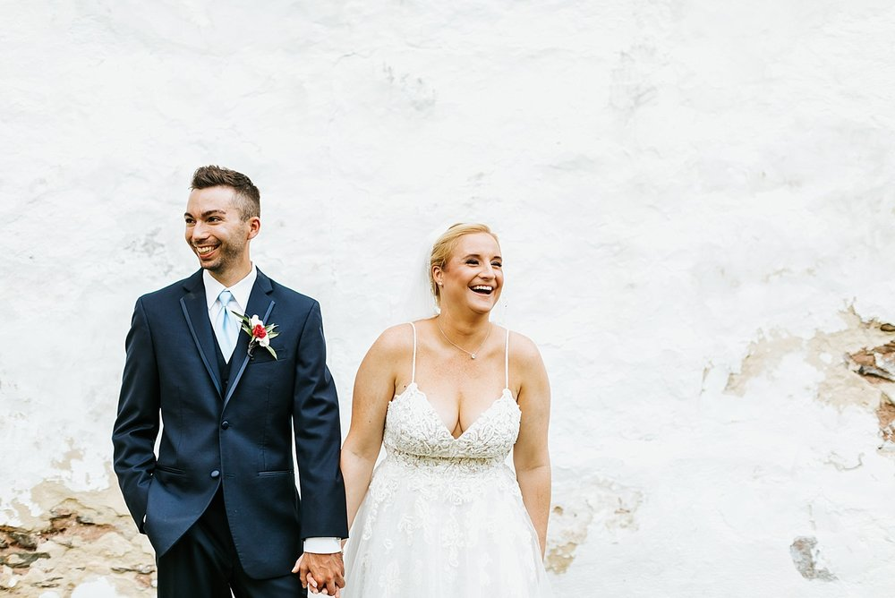 Bride and groom at valley forge park