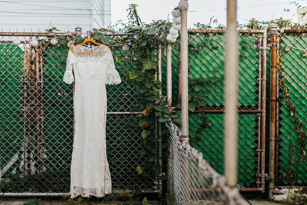 Bride's dress in fishtown, philadelphia