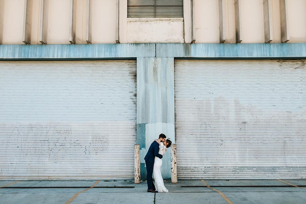 Bride and groom portraits in fishtown, philadelphia
