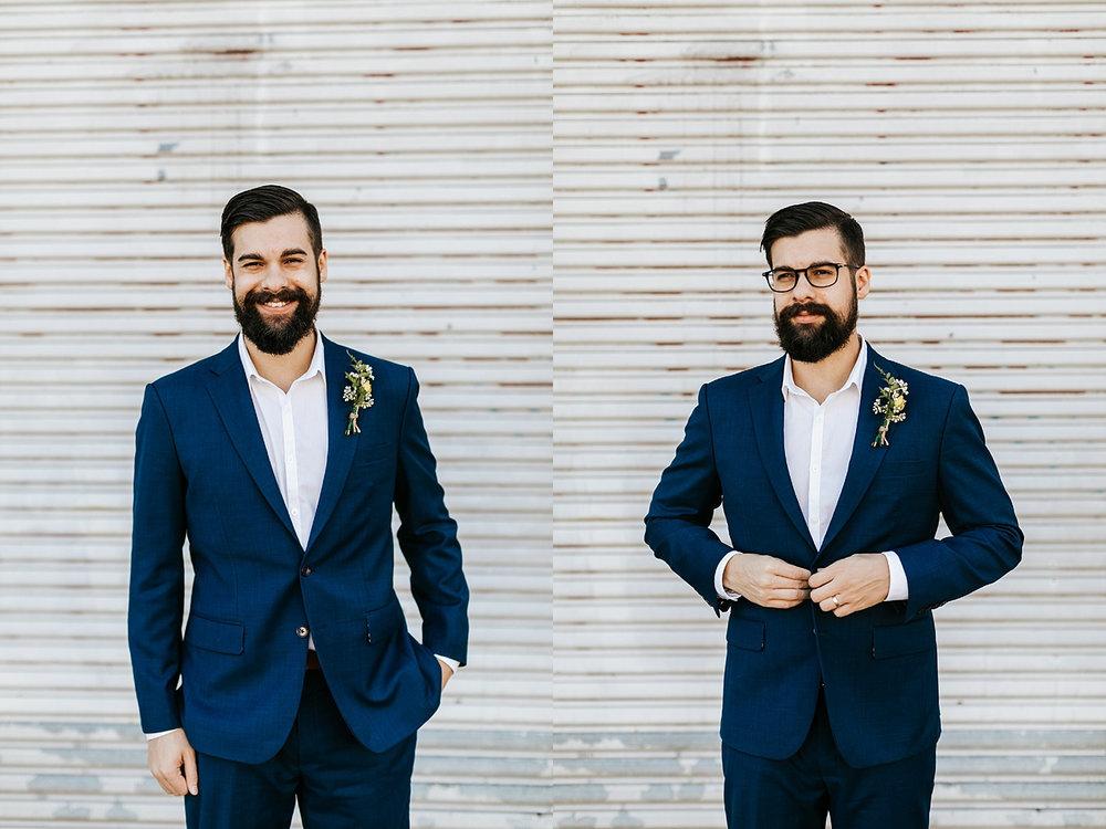 Groom portraits in fishtown, philadelphia