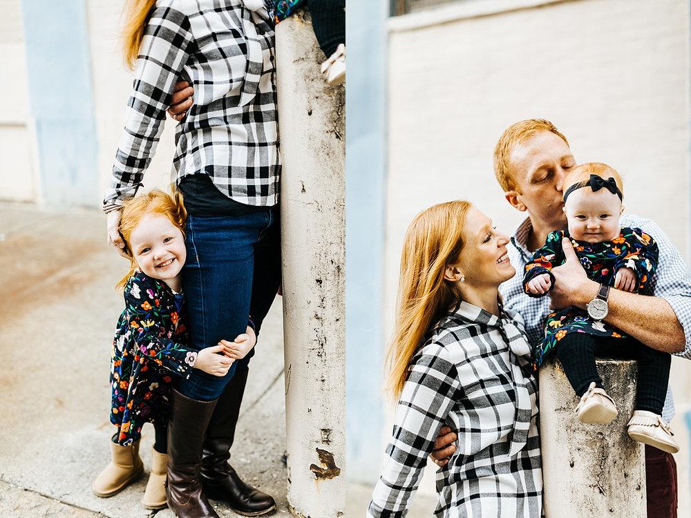 Fall family session in kensington, philadelphia