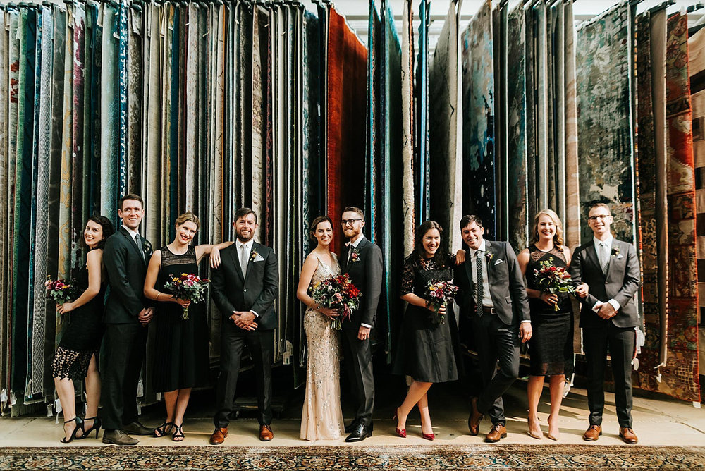 Bridal party at material culture