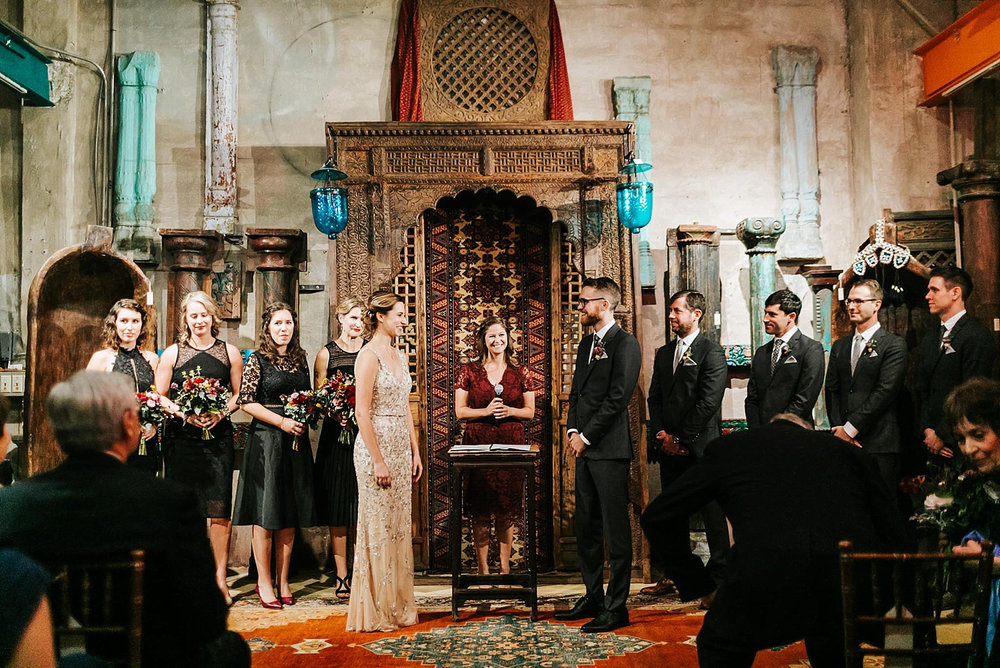 Wedding ceremony at material culture