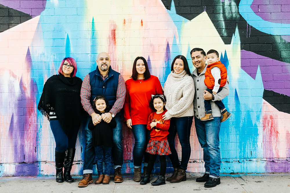 Family photo shoot at Williamsburg, brooklyn by danfredo photos + films