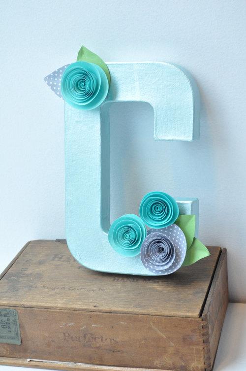 paper flower letters paper flower decor letter decor hanging letter - Letter Decor