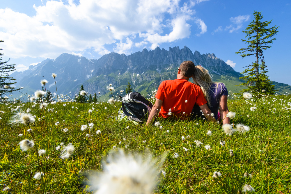 Wandern und Bergsteigen  Die Bergwelt des Hochkönigs zu Fuß entdecken – und das direkt von eurer Hütte weg. Weit weg von Tourismusströmen die Ruhe der Natur und die beeindruckende Bergwelt rund um Maria Alm, Dienten und Mühlbach kennen lernen. Hier findet jeder Sportler seine private Lieblingstour.340 km gut markierte Wanderwege erschließen das fantastische Gebiet rund um den Hochkönig. Und das bedeutet für euch unzählig viele Wanderwege aller Schwierigkeitsgrade. NEU seit Sommer 2015: Die  Hochkönig Touren-App  !  Aktuelle Infos und alle Wander- und Bikerouten auf eurem Smartphone!  Alle Infos zum Wandern und Bergsteigen am Hochkönig   Interaktive Wanderkarte hier   Hochkönig Touren App für Android und iOS hier