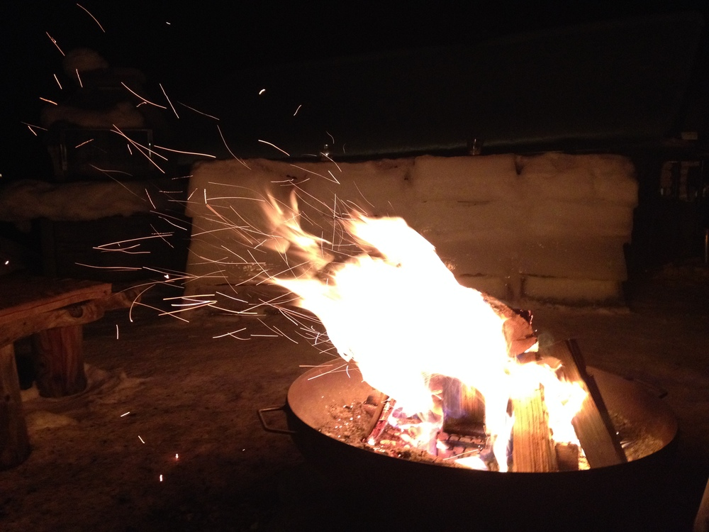 Lagerfeuer und Romantik