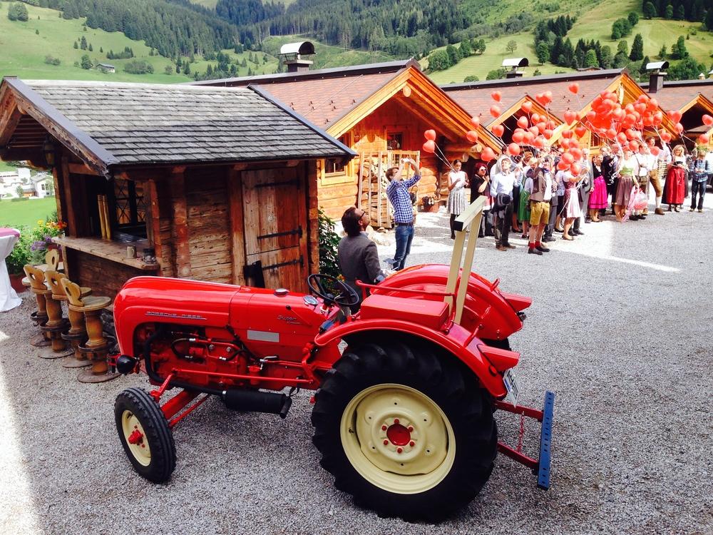Hochzeits-Traktor