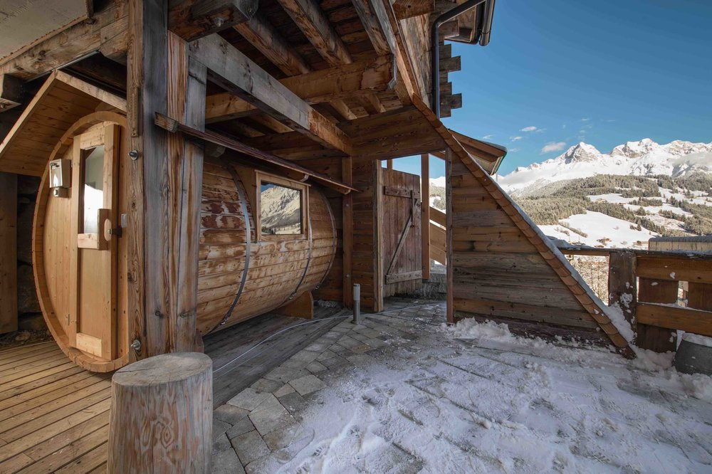 Sauna in der Huette
