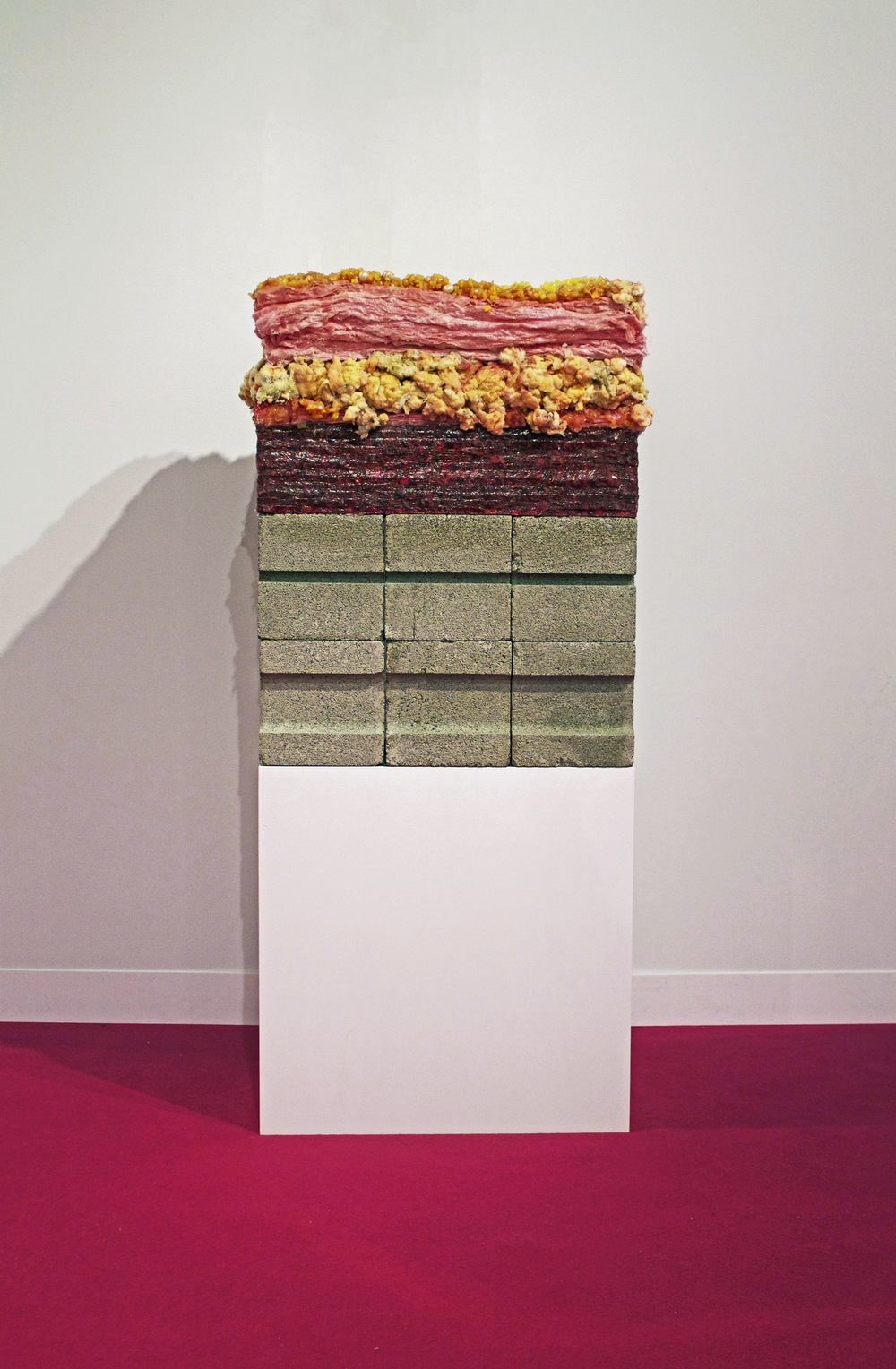 Layers    Silicone, Polyester Fiber, Cinderblock, Carpet Padding, Fiberglass insulation    15x23x54    2016