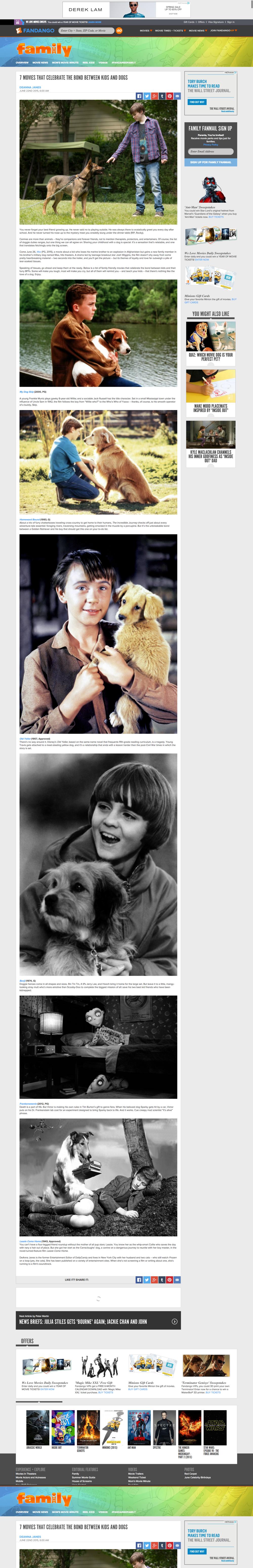 fandango dog story