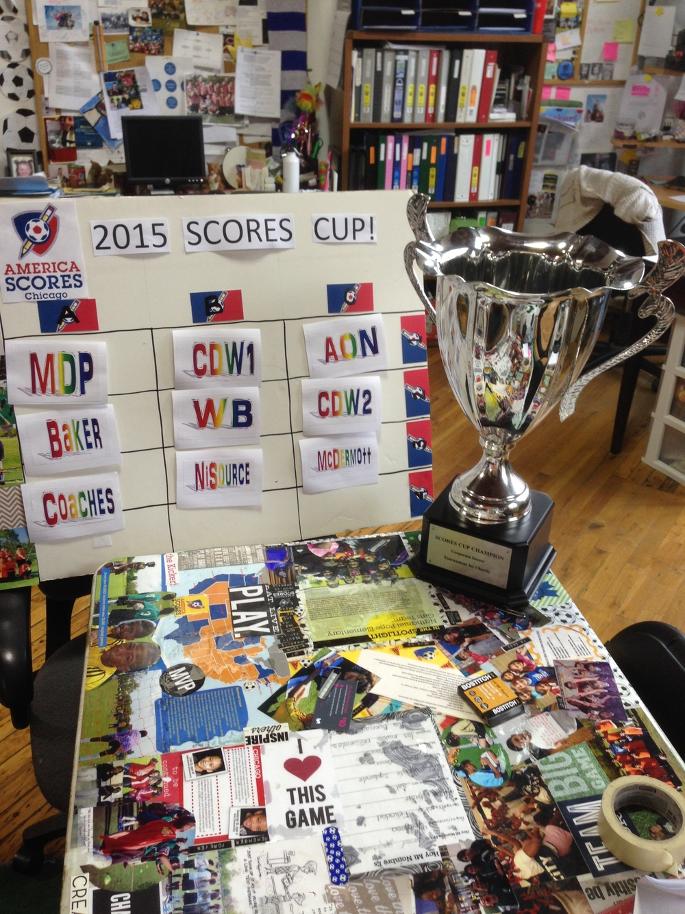 Our 2015 SCORES Cup Draw board highlighting the 3 groups and teams in each.The coveted SCORES Cup is waiting to be claimed by it's rightful winner.