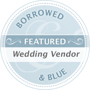 Brittany's wedding was featured on Borrowed & Blue! -