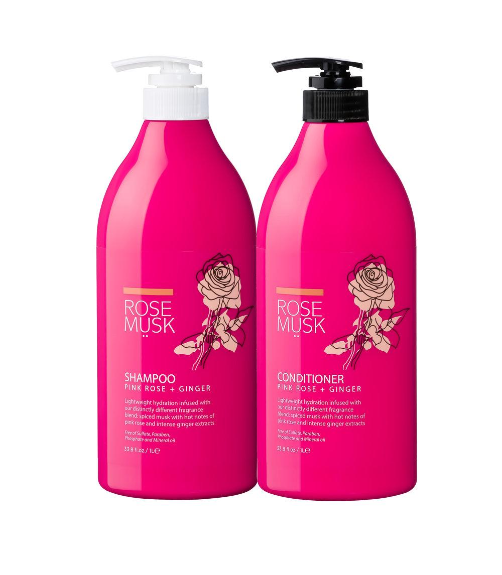 Rose Musk Pink Rose Ginger Shampoo Amp Conditioner