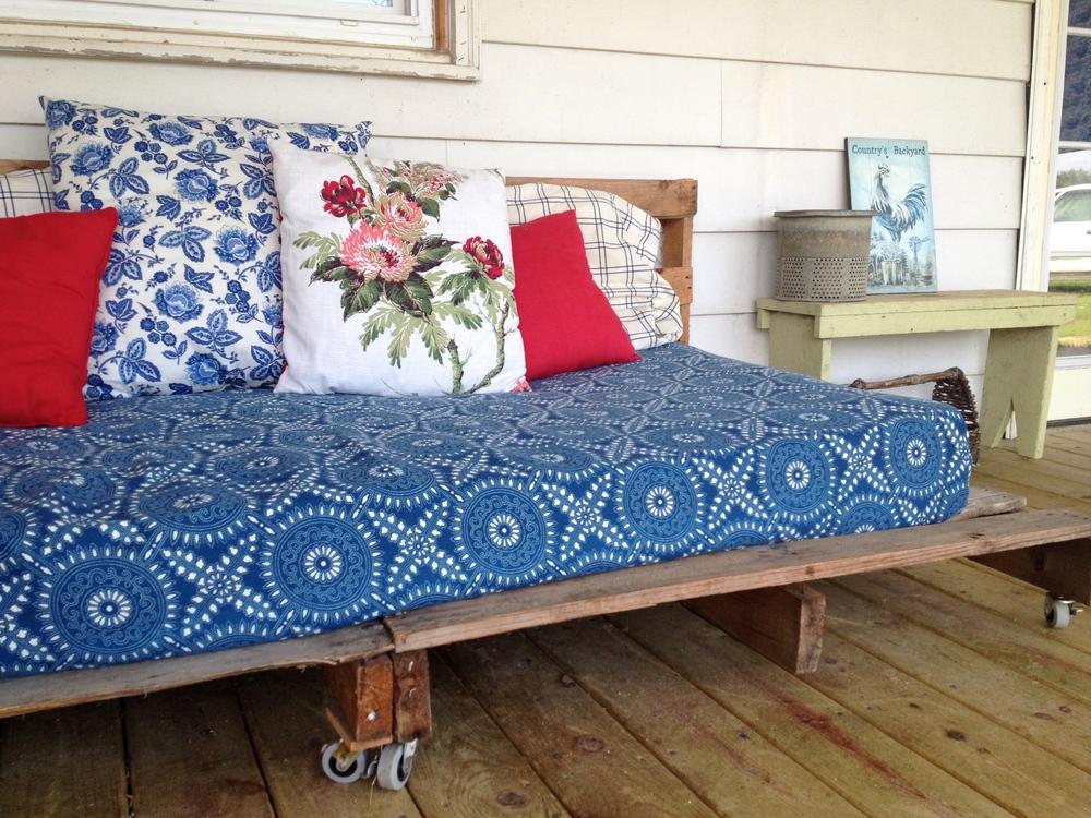 toss pillows: Goodwill $1.99 mattress cover: Goodwill $2.99 all other linen: from my grandma