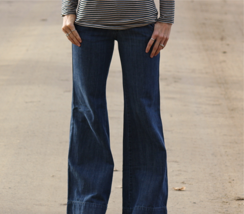 It was so windy the day my son Will took these photos. Those wide leg jeans were flying in the wind.