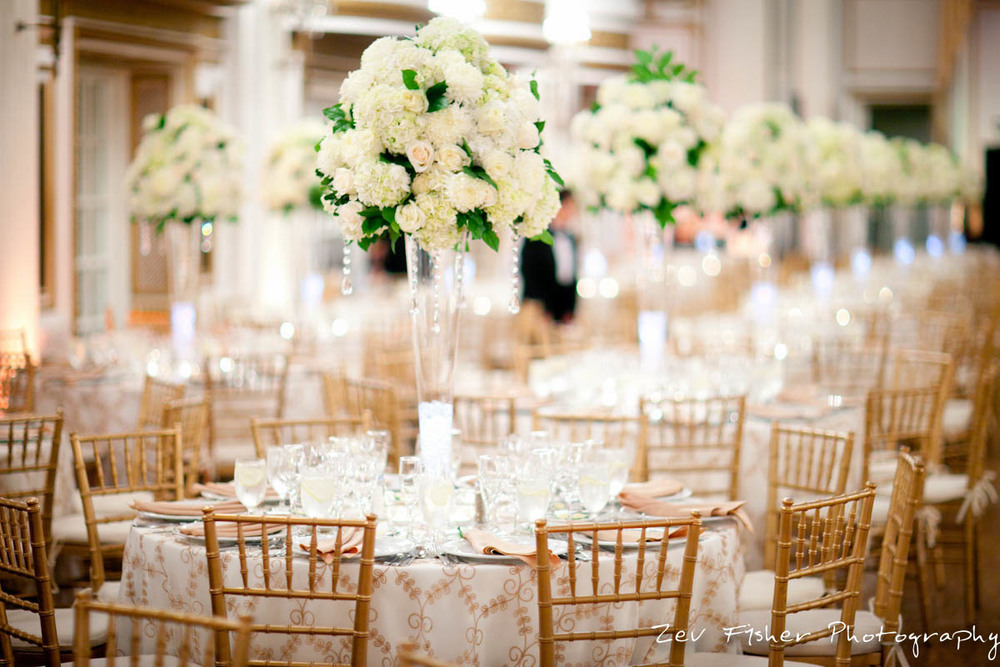 Opulent White at the Fairmont Copley Plaza Zev Fisher Photography