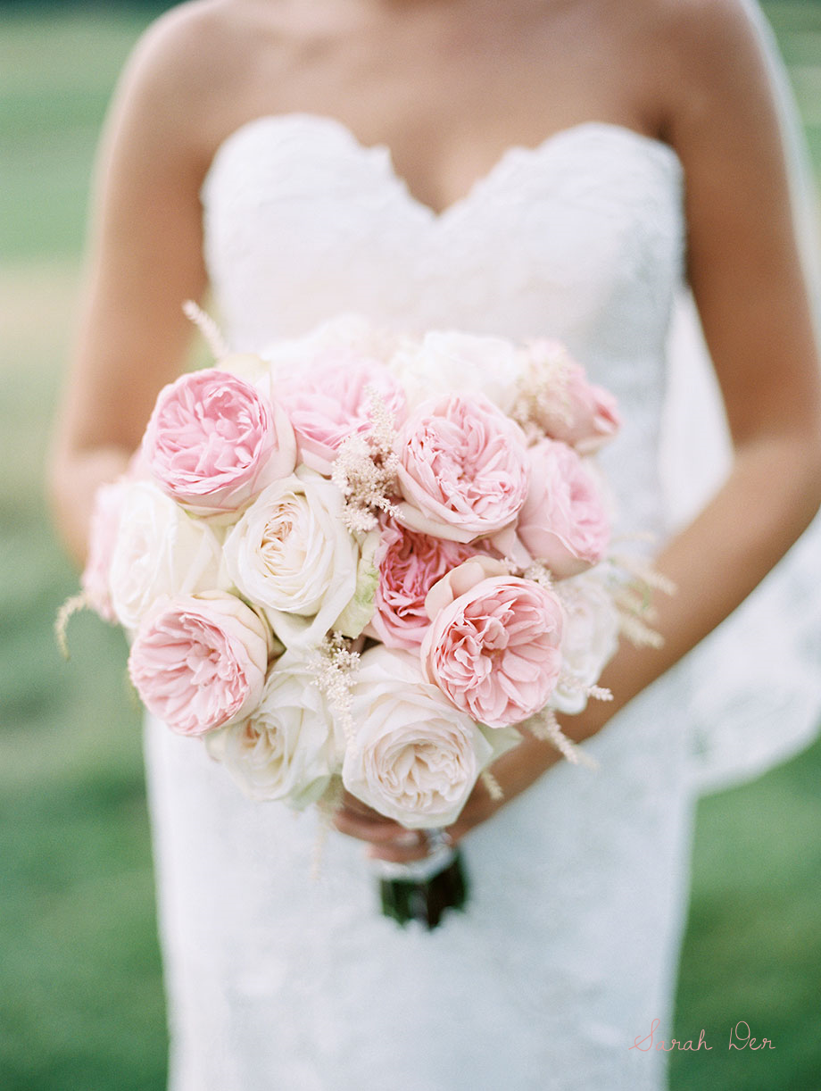 Beau Bouquet Of Garden Roses And Astilbe
