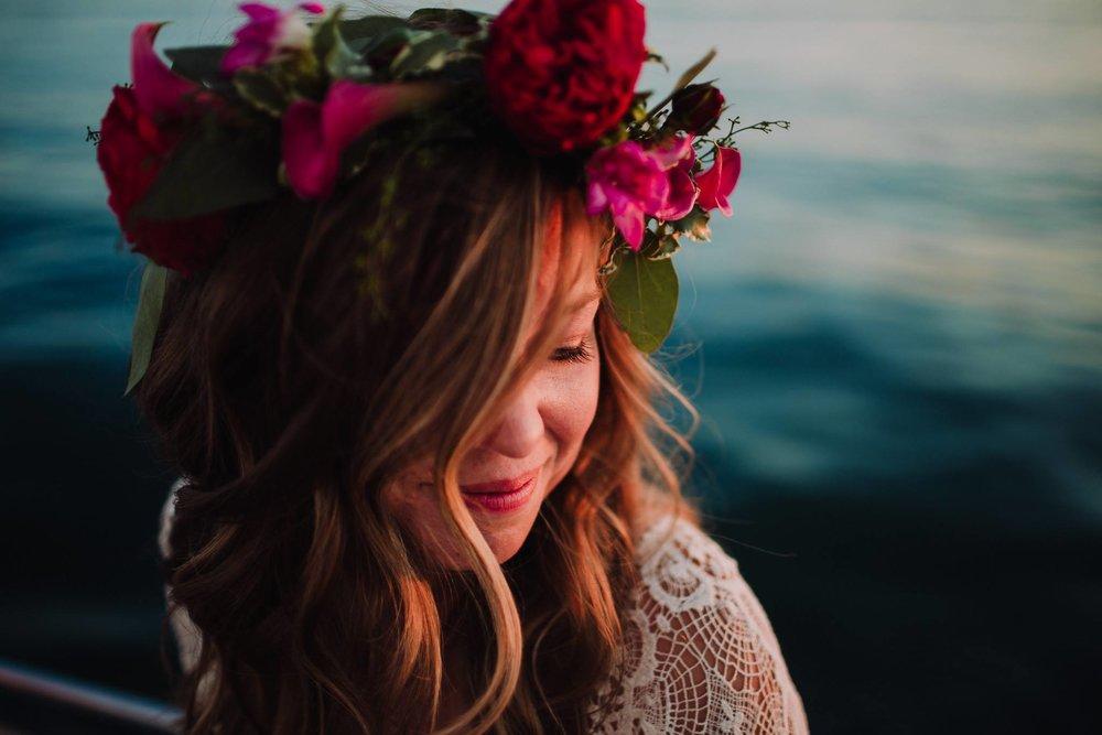 Sailboats + Floral Crowns Engagement Session Gallivan Photo