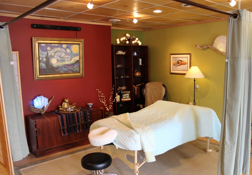 The inviting and relaxing massage area at Shining Mountain Healing Center