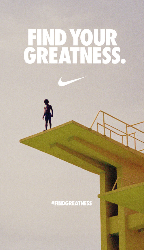 2c12c83295e3 Nike — Find Your Greatness — Sezay Altinok Creative