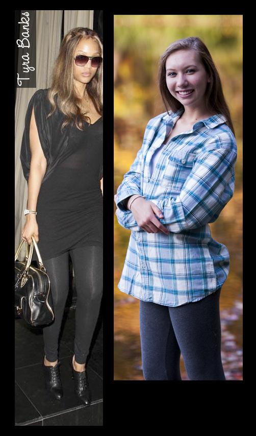 Hey look, Tyra Banks wears leggings, just like Sarah. Tyra wants to BE Sarah! Keep dreaming Tyra!
