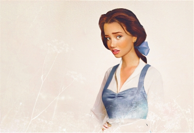 Even Belle knew how to rock a wind-proof hair-do with her locks pulled back in a loose ponytail! (Credit: Artist Jirka Vinse's rendition of Belle, source: https://jirkavinse.wordpress.com)