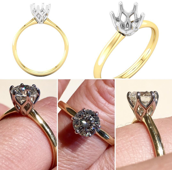 Custom Solitaire Engagement Ring Design