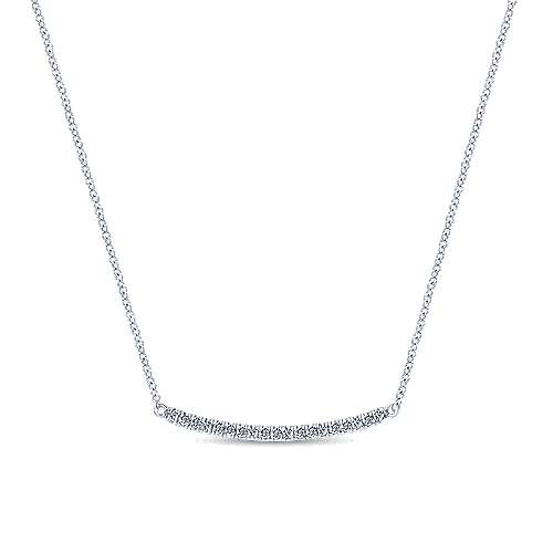 64cc6c3b7ad Curved Diamond Bar Fashion Necklace — Howie's Jewelers