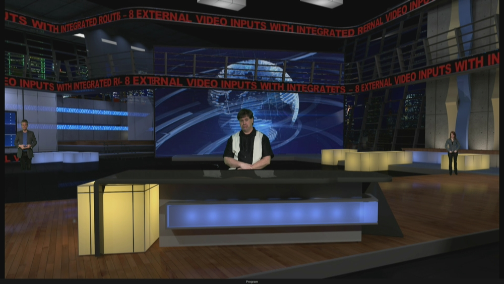 Virtual Set Lighting Design