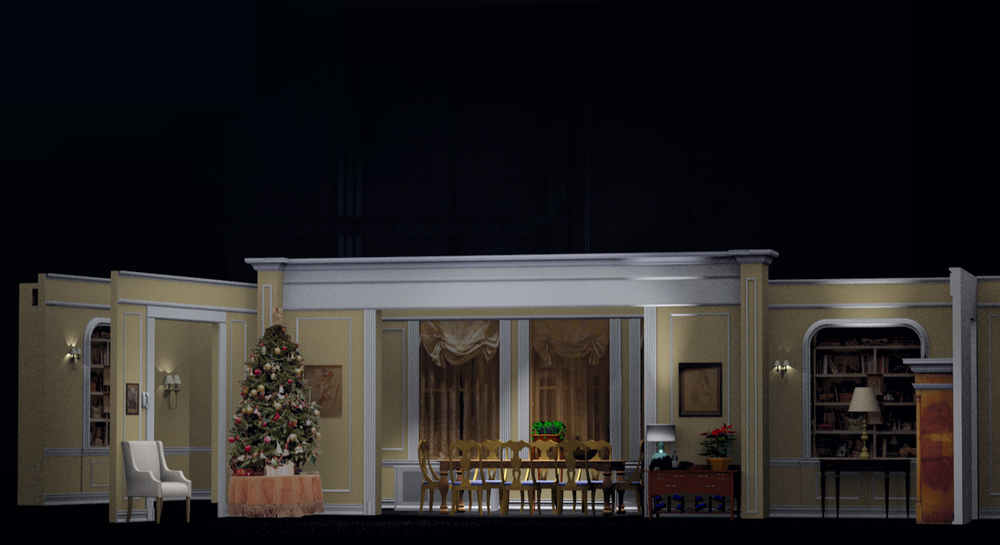 "3d Graphic for The 2013 Tony Awards (White Cherry Productions) ""The Assembled Parties"" , best play segment, animated sequence."