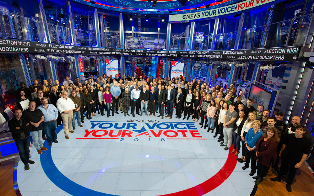 2018 Midterm Election Staff, Crew and Cast Members (ABC Photo)