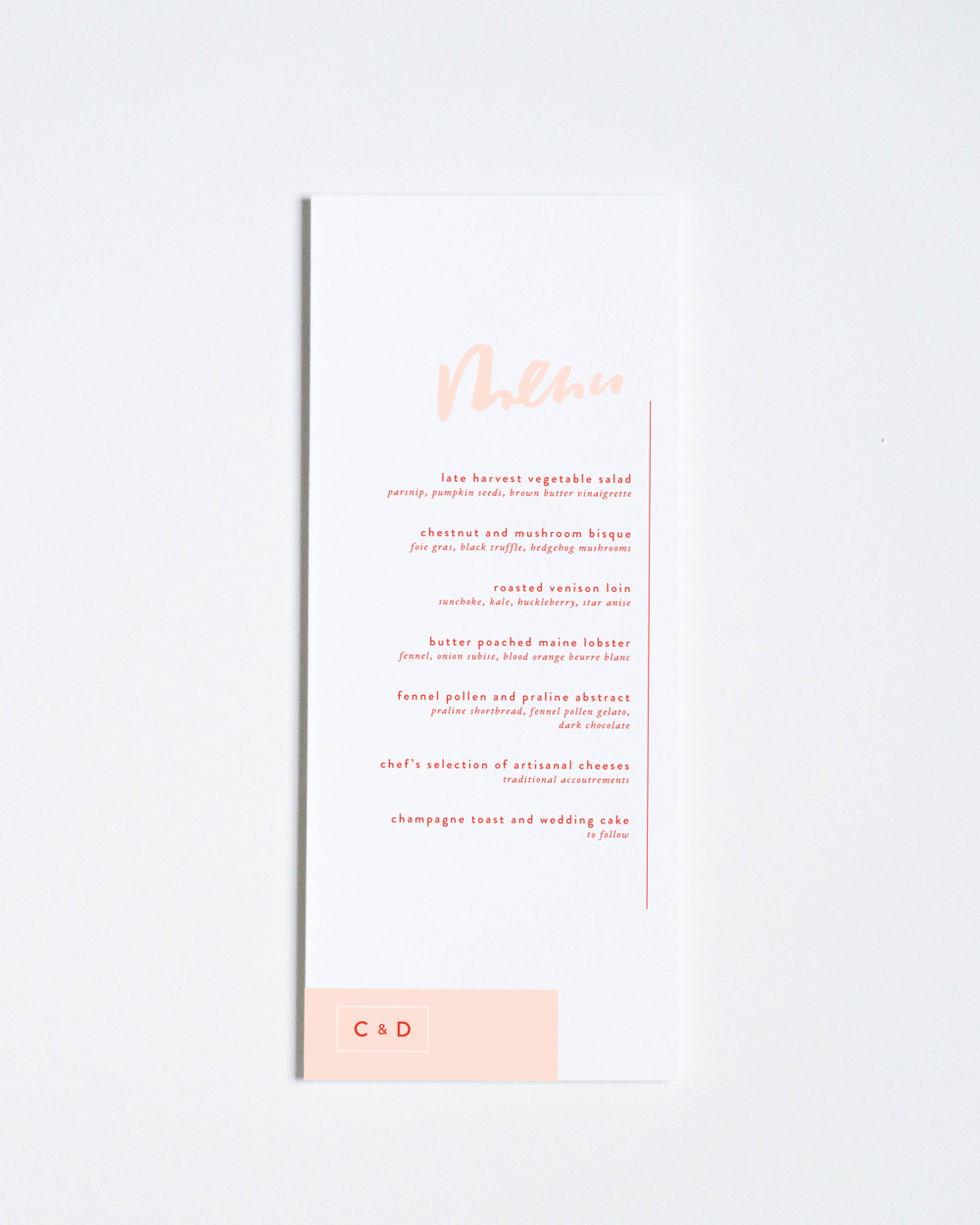 CONTEMPORARY MENU