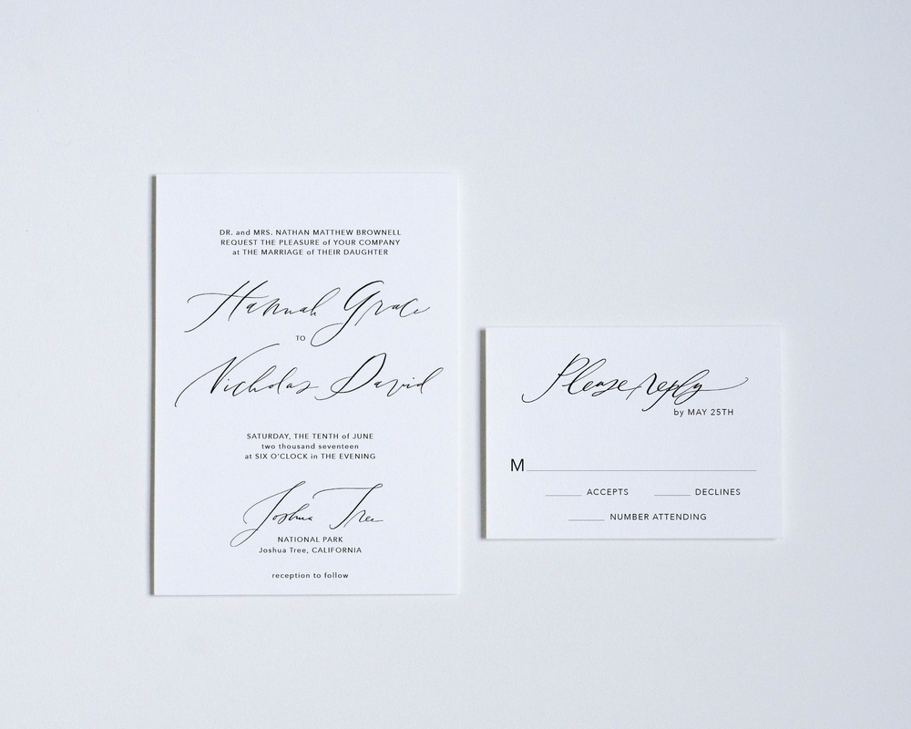 BLANK CANVAS INVITATION + REPLY