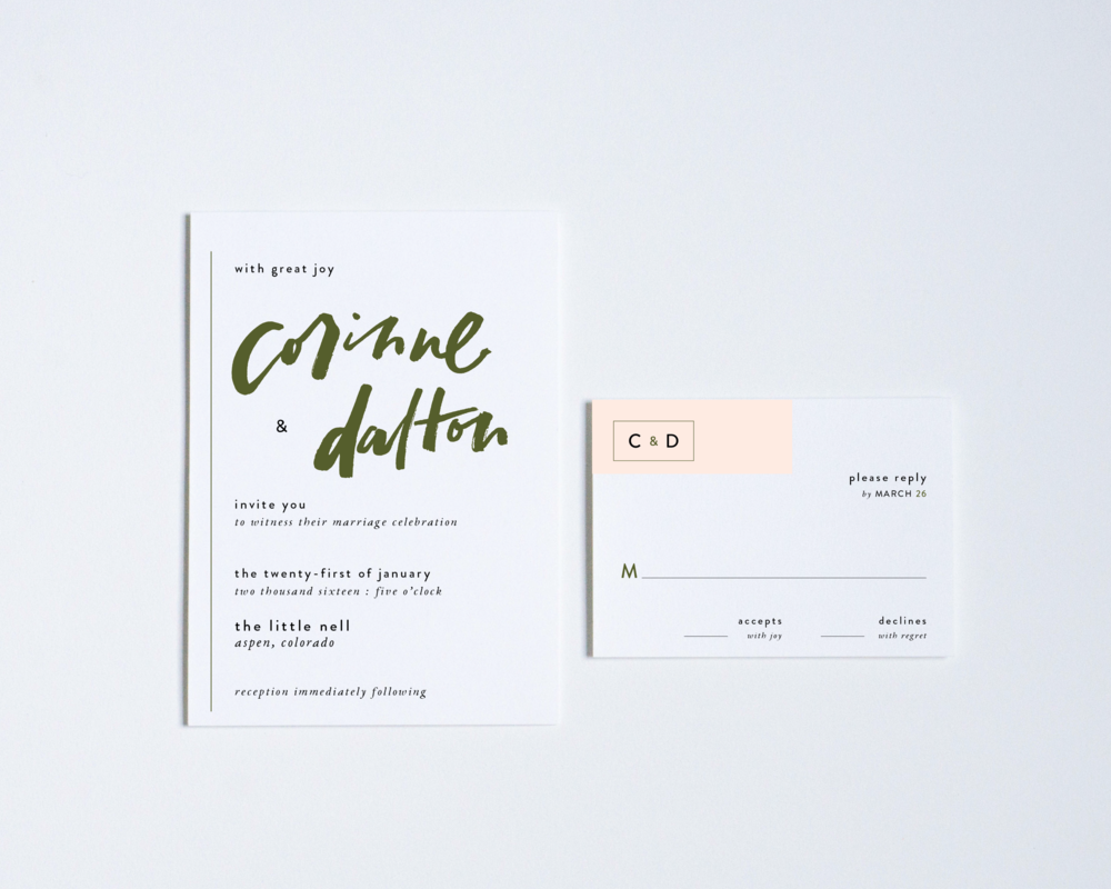 CONTEMPORARY INVITATION + REPLY